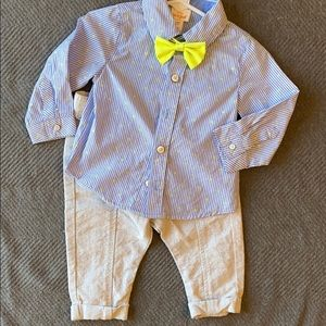 Infant boys dress shirt and pants